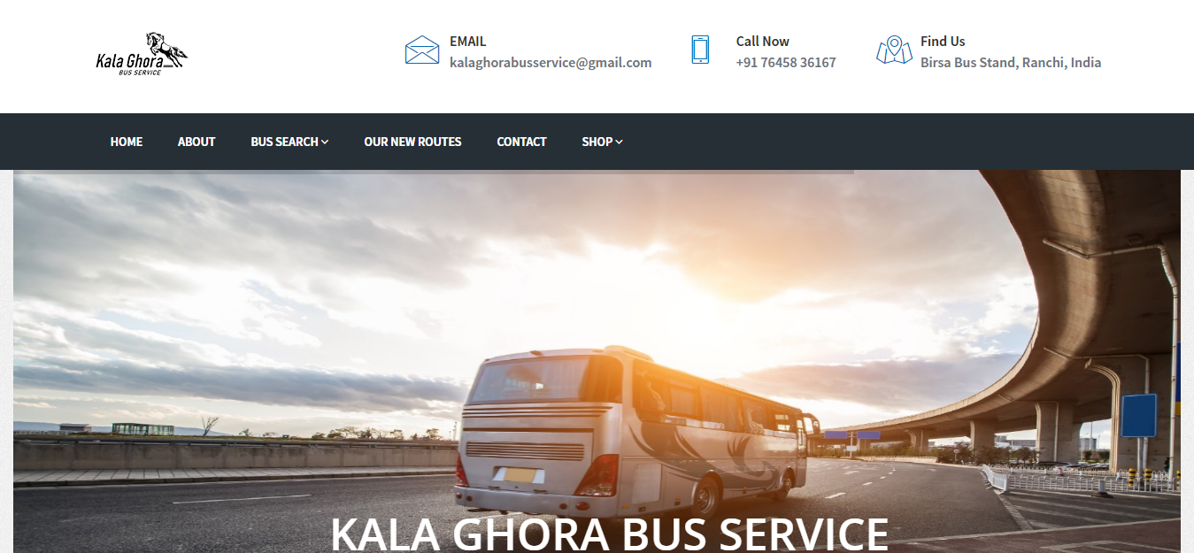 Go to KalaGhora Bus Service – The Best Online Ticket Booking Service in Ranchi!